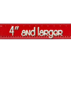 """(width 4"""" and larger)"""